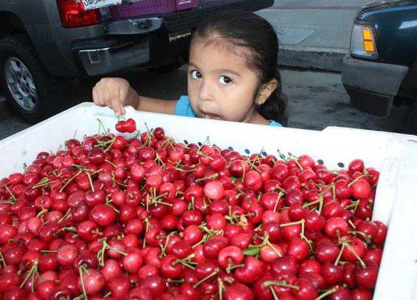 Market cherries pix