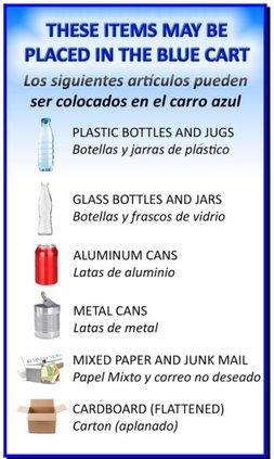 blue bin recyclables