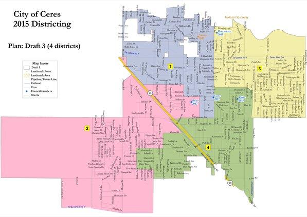 Ceres Council District map
