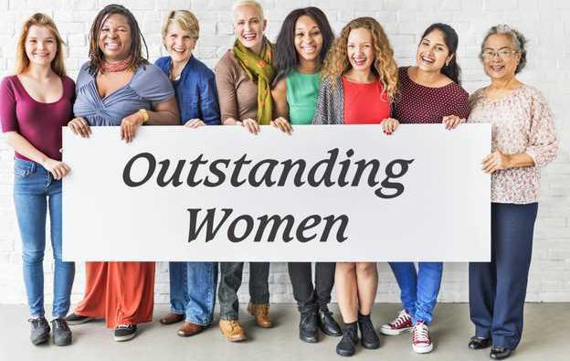 outstanding women banner