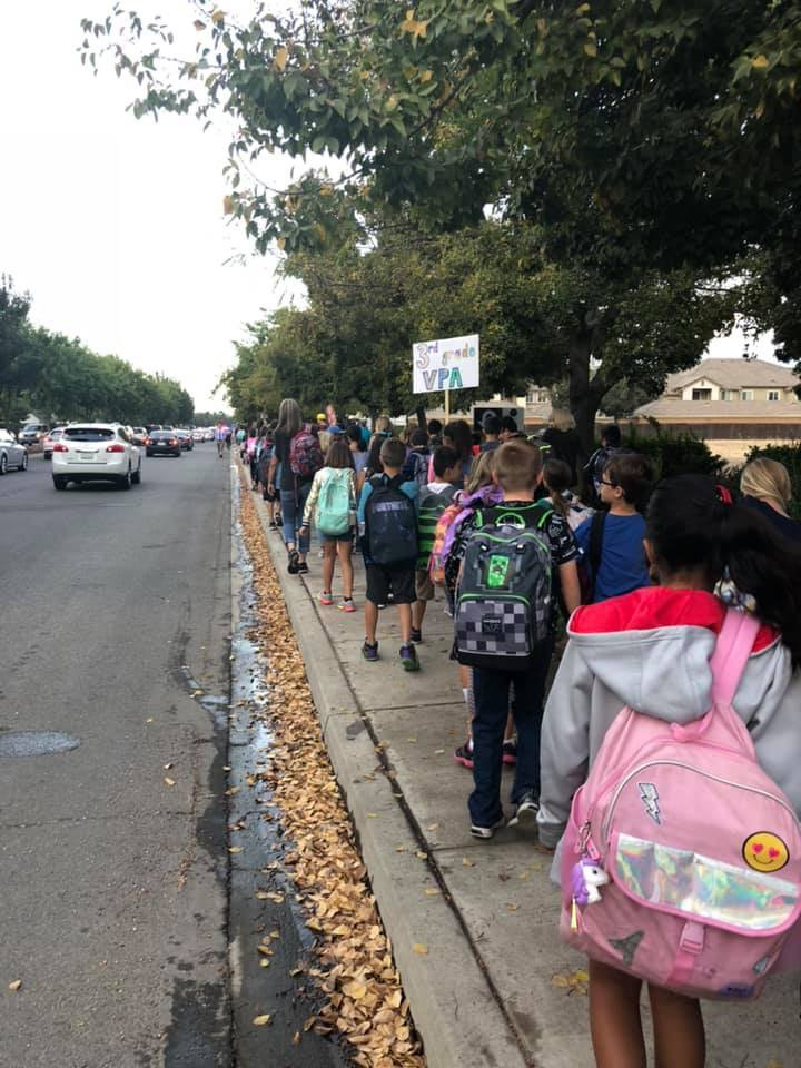 walk to school day 2