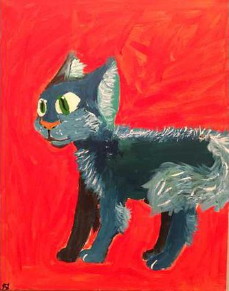Blue Cat2c Natalee Smith2c age 12
