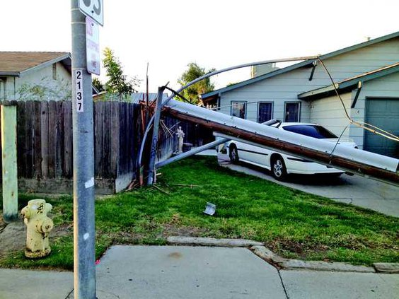 snapped pole