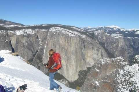 snowshoe yosemite dewey point vistas