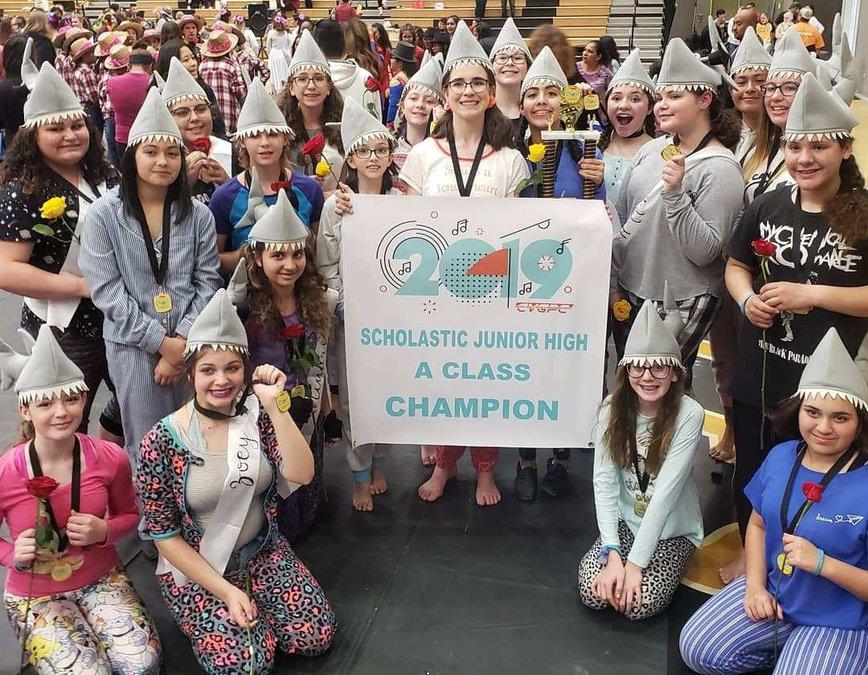 Junior High Rams Named Color Guard Champs - Oakdale Leader