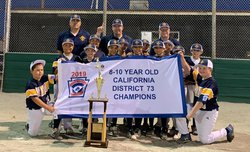 Turlock American 10s  District champs