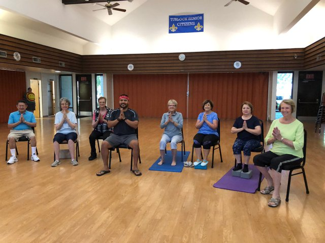 Chair yoga helps seniors find confidence - The Turlock